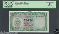 Ceylon 10 Rupees 31-5-1957 P59as Specimen Extremely Fine