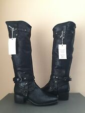 UGG COLLECTION CORTONA WEAVE NERO OVER THE KNEE BOOTS US 9.5 / EU 40.5 / UK 8