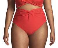 TIME AND TRU WOMEN'S SOLID HIGH WAIST  SWIMSUIT BIKINI BOTTOM