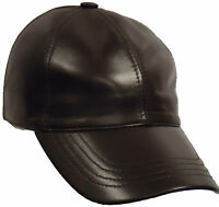 REAL leather baseball cap one size fits all unisex casual sports hats caps new
