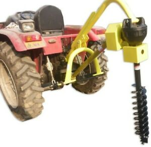 """Titan 30HP HD Steel Fence Posthole Digger w/6"""" Auger 3 Point Tractor Attachment"""
