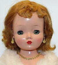"Yellow Rhinestone Jewelry Set Necklace Earrings for Cissy 18-20-22"" Revlon Doll"