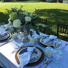 SEERSUCKER TABLE RUNNER handmade, light blue, Bridal, wedding, southern , bride