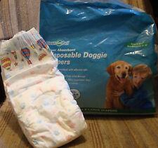 "Clean Go Pet Disposable Doggie Diapers Super-Absorbent Sz XL, 31 - 60lb, 18-30"""