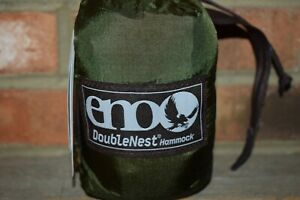 ENO Eagles Nest Outfitters DoubleNest 2 Person Hammock (Khaki / Olive) NWT