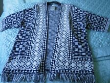 BRAND NEW NAVY/WHITE KNITTED JACKET SIZE MEDIUM BY GEORGE