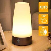 LED Tischleuchte Lampe Nachtlicht Bewegungsmelder Sensor Wireless Für Kinder