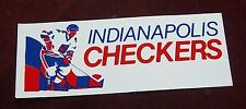 Decals / Sticker  Indianapolis Checkers logo  1970's