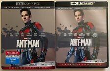 MARVEL ANT MAN 4K ULTRA HD BLU RAY 2 DISC SET + SLIPCOVER SLEEVE FREE SHIPPING