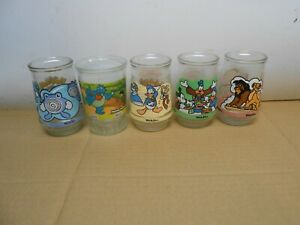 vintage welch's jelly jars glasses pokemon 6 dragon tails lion king 6 mickey 2 e