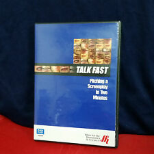 Talk Fast: Pitching a Screenplay in Two Minutes RARE DVD screenwriter filmaker