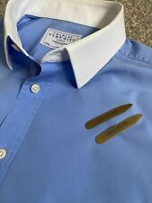 FANTASTIC CHARLES TYRWHITT CLASSIC FIT BLUE SHIRT WHITE COLLAR / CUFFS 17   35