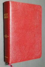 NIV Bible Genuine Cowhide Burgundy Leather 2nd Printing 1978 in the Original Box