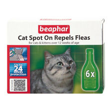 Beaphar Cat Spot On Flea Treatment Repels Fleas for Cats And Kittens 6 Pipettes