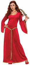 Ruby Red Sorceress Renaissance Lady Adult Costume Dress Women Princess Medieval