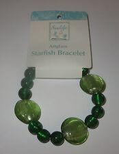 Green Stretchy Bracelet Artglass New Jewelry One Size Fits Most