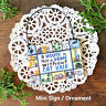 DECO Mini Gift Sign House not a Home without CAT HAIR Kittie Lovers Ornament USA