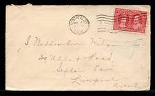 2c Tercentenary 1908 to ENGLAND cover Canada
