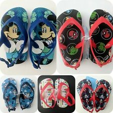 Toddler Boy Flip Flops Marvel, Mickey, Paw Patrol:Sizes 5-8 NWT by Old Navy