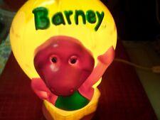Vintage Barney Night Light Purple Dinosaur Lamp Hot Hair Balloon 90's Kiddo's