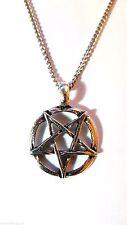 "Inverted Pentagram Pentacle Satan, Baphomet 2nd Degree Satanism - 18"" Chain   d5"