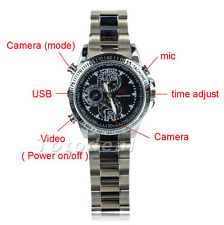 Mini Hidden Wrist Watch 8GB Video 1280*960 Camera DVR DV Waterproof Camcorder