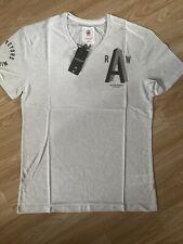 G Star New Mens Small Off White Regular Fit T Shirt