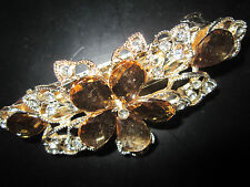 New Fashion Crystal Flower Rhinestone Hairpin Clip Barrette Women