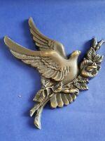 Plaque colombe en bronze    Code TS24