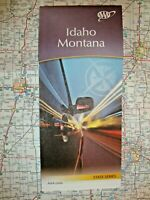 IDAHO & MONTANA STATE MAP Travel Road Street Tour Guide Roadmap '20 AAA ID MT