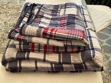 Pottery Barn Kids Madras Full/Queen Quilt and 2 Euro Shams