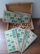Ancien Jeu de  loto bois carton  vintage Déco XIXeme French Toy lotto