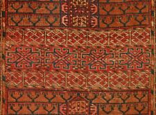ANTIQUE TURKMEN ENSI Hatchli RUG CENTRAL ASIA n30