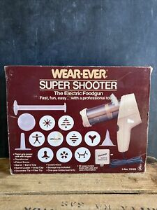 WearEver Wear-Ever Super Shooter Electric Cookie Press Candy Maker Vintage 70123