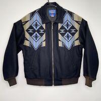 Pendleton High Grade Western Wear Wool Jacket Men's Size Med Aztec Made in USA