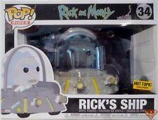 "RICK'S SHIP Rick & Morty Pop Rides 8"" Vinyl Vehicle & Figure BOX NOT MINT 2018"