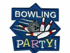 Girl Boy Cub Scout Girl Guide Fun Patch - Bowling Party
