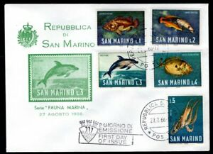 San Marino - 1966 Sea Animals First Day Cover