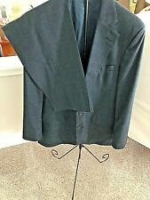 ~VTG Men's Palm Beach 2-PC SUIT~ Dark Gray Windowpane~Pants 38