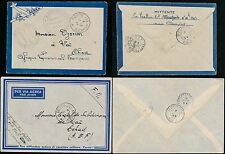 AIRMAILS 1944 TCHAD FRENCH AFRICA AEF MILITARY POST FINE ENVELOPES...2 DIFFERENT