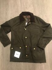 Barbour Ashby Waxed Jacket Olive Large RRP £199 new