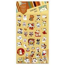 CUTE LUCKY CAT STICKERS Maneki Neko Kawaii Paper Sticker Sheet Craft Scrapbook