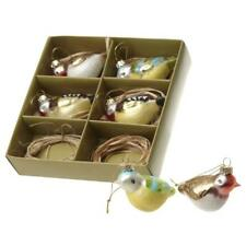 Heaven Sends Assorted Birds Glass Christmas Decorations - Glass Bird Decorations
