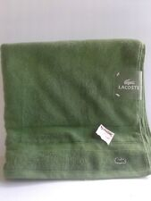 "NEW LACOSTE BEACH TOWEL 100% COTTON 33""x58"" GREEN"