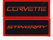 BLACK ORANGE CHEVY CORVETTE STINGRAY SEW/IRON ON PATCH EMBLEM BADGE EMBROIDERED