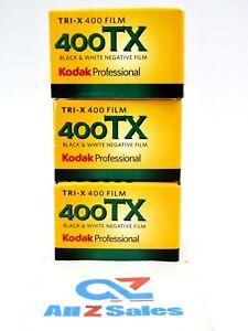 (3X) Kodak Tri-X 400TX Professional ISO 400, 36mm, Black & White Expire 08/2022
