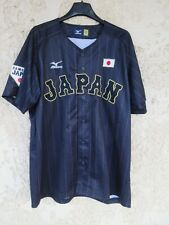 Maillot chemise baseball JAPON SAMURAI JAPAN MIZUMO shirt taille 0 XL