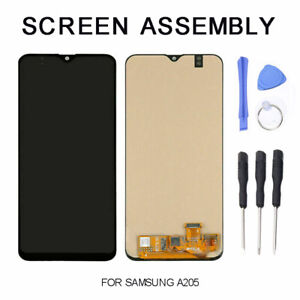 For Samsung Galaxy A20 A205 LCD Touch Screen Digitizer Frame Replacement New