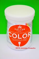 KALLOS KJMN PROFESSIONAL COLOR HAIR MASK,SHAMPOO WITH LINSEED OIL AND UV FILTER