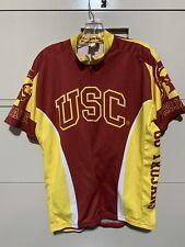 New listing USC Trojans cycling Short Sleeve Jersey Cycling Jersey XL